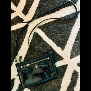 Cole Haan Patent Leather Crossbody Bag Black